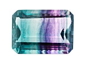 Bi-Color Fluorite 18x13mm Emerald Cut 17.50ct