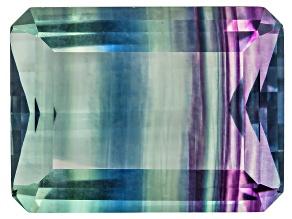 Bi-Color Fluorite 20x15mm Emerald Cut 25.00ct
