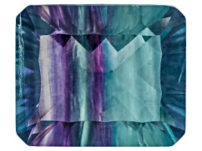 Bi-Color Fluorite 12x10mm Rectangular Octagonal Cut 7.50ct