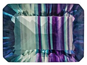 Bi-Color Fluorite 14x10mm Rectangular Octagonal Cut 9.00ct