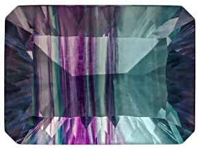 Bi-Color Fluorite mm Varies Rectangular Octagonal Cut 8.50ct