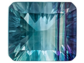 Bi-Color Fluorite 14x12mm Rectangular Octagonal Quantum Cut 11.00ct