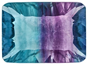Bi-Color Fluorite 15x11mm Rectangular Octagonal Cut 9.00ct