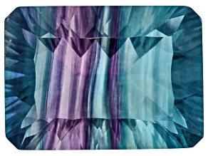 Bi-Color Fluorite 15x11mm Rectangular Octagonal Quantum Cut 10.00ct