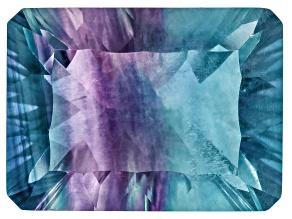 Bi-Color Fluorite 15.5x11.5mm Rectangular Octagonal Cut 11.00ct