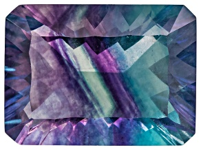 Bi-Color Fluorite 15.5x11.5mm Rectangular Octagonal Cut 12.00ct