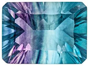 Bi-Color Fluorite mm Varies Rectangular Octagonal Cut 11.00ct