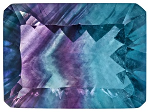 Bi-Color Fluorite mm Varies Rectangular Octagonal Cut 12.00ct