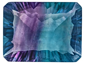 Bi-Color Fluorite 16x12mm Rectangular Octagonal Cut 12.00ct