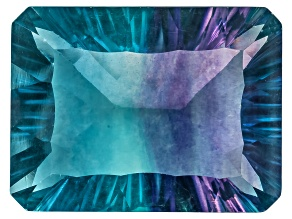 Bi-Color Fluorite 16x12mm Rectangular Octagonal Cut 13.00ct