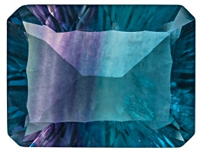 Bi-Color Fluorite 16x12mm Rectangular Octagonal Cut 13.50ct