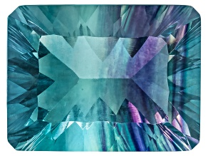 Bi-Color Fluorite 16x12mm Rectangular Octagonal Cut 14.00ct