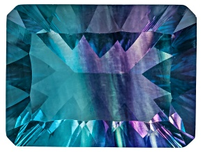 Bi-Color Fluorite 16x12mm Rectangular Octagonal Cut 15.00ct