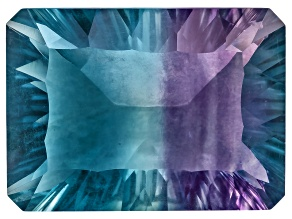 Bi-Color Fluorite 18x13mm Rectangular Octagonal Cut 17.00ct