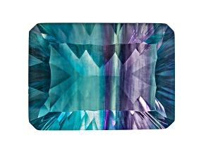 Bi-Color Fluorite 18x13mm Rectangular Octagonal Cut 18.00ct
