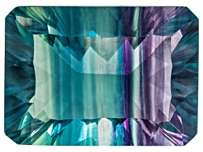 Bi-Color Fluorite 18x13mm Rectangular Octagonal Cut 19.00ct