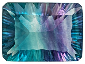 Bi-Color Fluorite 18.5x13.5mm Rectangular Octagonal Cut 17.00ct