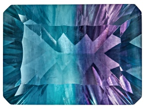 Bi-Color Fluorite 18.5x13.5mm Rectangular Octagonal Cut 19.00ct