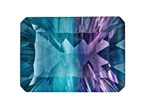 Bi-Color Fluorite 18x13mm Rectangular Octagonal Quantum Cut 19.00ct