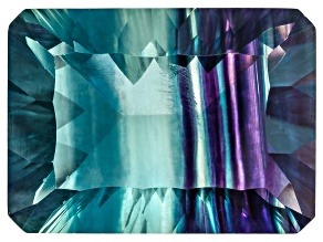 Bi-Color Fluorite 18.5x13.5mm Rectangular Octagonal Cut 20.00ct
