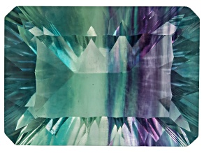 Bi-Color Fluorite mm Varies Rectangular Octagonal Cut 18.00ct