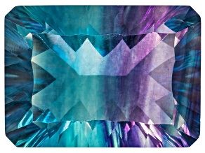 Bi-Color Fluorite mm Varies Rectangular Octagonal Cut 20.00ct