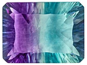 Bi-Color Fluorite 19x14mm Rectangular Octagonal Cut 21.00ct