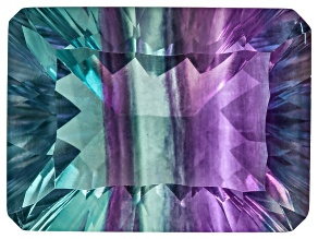 Bi-Color Fluorite 19x14mm Rectangular Octagonal Quantum Cut 22.00ct