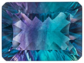 Bi-Color Fluorite 19x14mm Rectangular Octagonal Cut 23.00ct