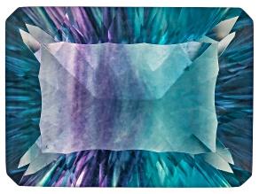 Bi-Color Fluorite mm Varies Rectangular Octagonal Cut 21.00ct