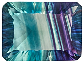 Bi-Color Fluorite mm Varies Rectangular Octagonal Cut 22.00ct
