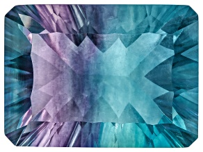 Bi-Color Fluorite mm Varies Rectangular Octagonal Cut 23.00ct