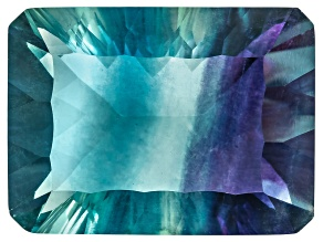 Bi-Color Fluorite 20x15mm Rectangular Octagonal Cut 24.00ct