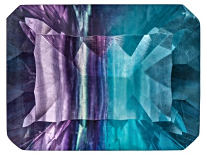 Bi-Color Fluorite 20x15mm Rectangular Octagonal Cut 26.00ct