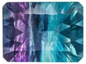 Bi-Color Fluorite mm Varies Rectangular Octagonal Cut 28.00ct