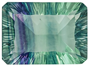Bi-Color Fluorite 22x16mm Rectangular Octagonal Cut 30.00ct