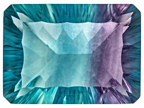 Bi-Color Fluorite 22x16mm Rectangular Octagonal Cut 32.00ct