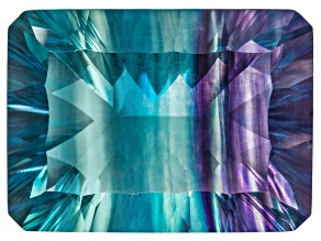 Bi-Color Fluorite 22x16mm Rectangular Octagonal Cut 34.00ct