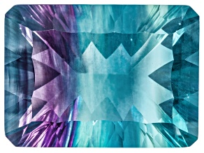 Bi-Color Fluorite mm Varies Rectangular Octagonal Cut 30.00ct