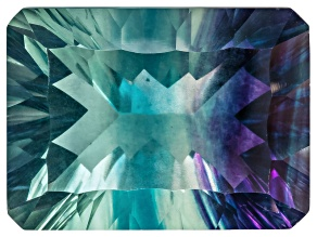 Bi-Color Fluorite mm Varies Rectangular Octagonal Cut 37.00ct