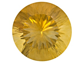 Yellow Fluorite 14mm Round Quantum Cut 10.00ct