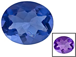 Blue Color Change Fluorite 12x10mm Oval 5.50ctw