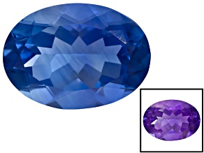 Blue Fluorite Color Change 18x13mm Oval 14.00ct