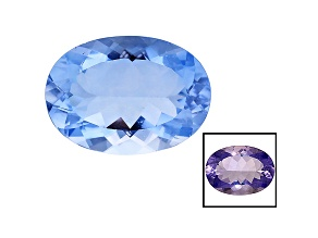 Blue Fluorite Color Change 25x18mm Oval 35.00ct