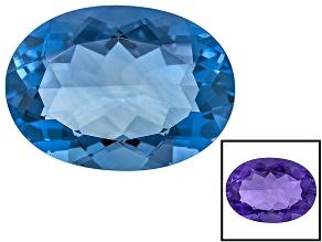 Purple Fluorite Untreated 18x13mm Oval 14.00ct