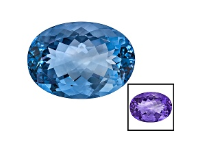 Blue Fluorite Color Change Oval 34.75ct