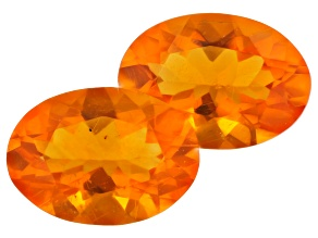 Fire Opal Matched Pair Oval 0.85ctw
