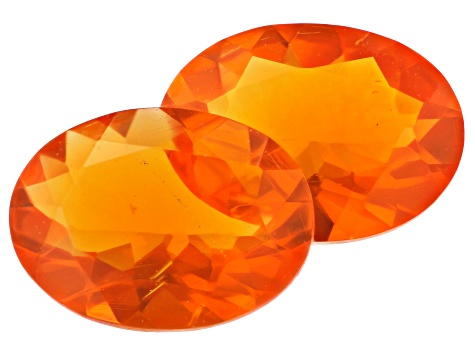 Fire Opal 7x5mm Oval Matched Pair 0.85ctw