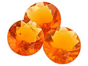 Fire Opal Set of 3 7mm round 2.23ctw