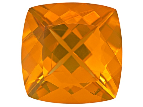Fire Opal 18mm Square Cushion 14.00ct
